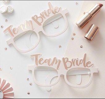 Team bride glasses