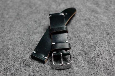 Horween Shell Cordovan Dark Green Watch Strap