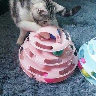 (現貨)貓玩具愛貓轉盤四層小貓幼貓咪用品猫咪玩具