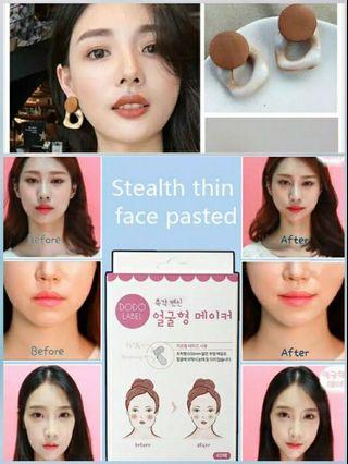 Sticker pipi v shape + new anting cantik korea