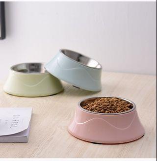 🌼寵物用品🌼不鏽鋼簡約馬卡龍色系狗碗貓碗
