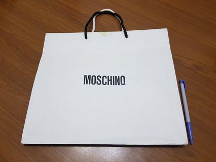 MOSCHINO 名牌精品 大款 紙袋 購物袋 提袋