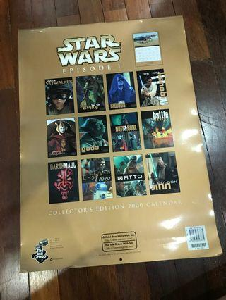 Collecters edition year 2000 star wars calendar