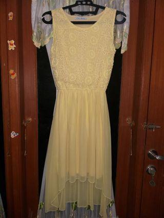 Yellow Brocade-Top Dress