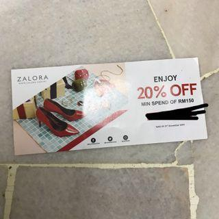 Zalora 20% off Voucher