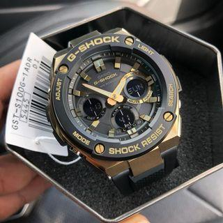 🧡🖤100% Authentic Casio Gshock Gsteel Tough Solar GSTS100G Gold with FREE DELIVERY 📦 G-Shock