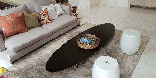 Original Eames surfboard / elliptical coffee table