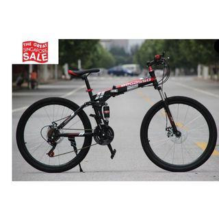 Black Foldable Soldier Bicycle Brand New and Free gifts Worth $80