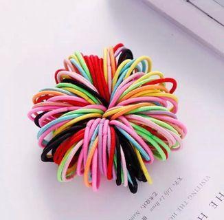 🚚 INSTOCK BN Multicoloured Hair Elastics (Set of 20) • Free NM