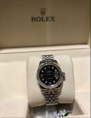 Rolex dayjust diamond black perpetual