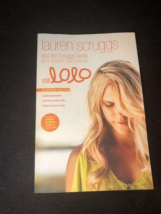 """""""Still Lolo"""" by Lauren Scruggs non fiction book brand new"""