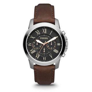 Fossil grant chronograph brown leather fs4813 original