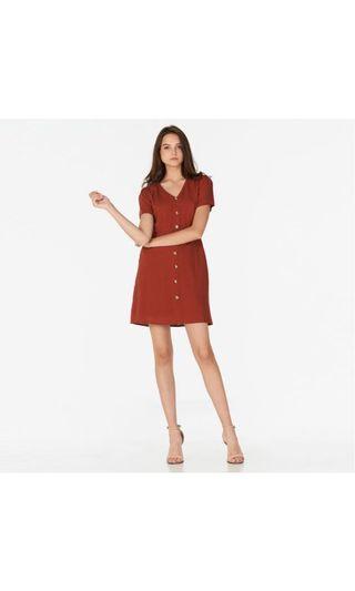 🚚 Marcella red linen dress
