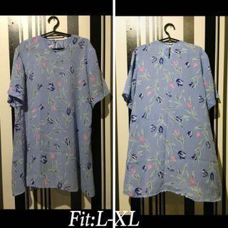 Floral lavender blouse