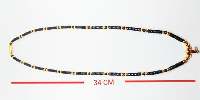 Gold Micron Single Hook Coconut Beads Necklace For Thai Amulet