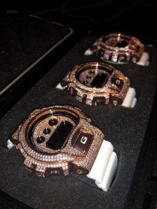 💎💎💎G-Shock DW6900 in crystals , bling bling G-SHOCK , G-SHOCK with diamonds , Gshock , CASIO