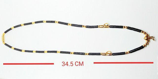 Gold Micron Three Hook Coconut Beads Necklace For Thai Amulet