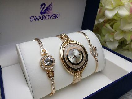Swarovski Watch Set [PROMO RAYA]!!