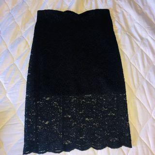 F21 midi bodycon skirt
