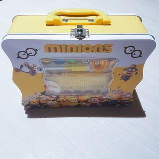 [LIMITED EDITION] Minion Activity Game Stationary Coin Bank Storage Tin Box