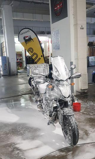 Motorcycle Snow Bike Wash @ Woodlands