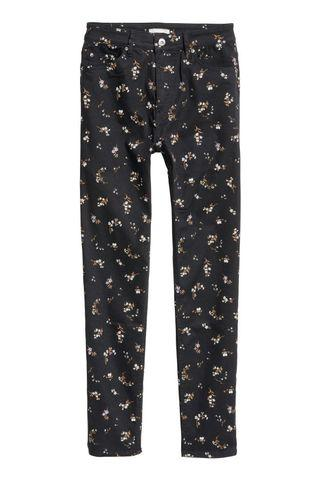 H&M FLORAL HIGHWAIST PANTS