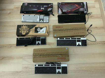 Mechanical Gaming Keyboards. Barely used. Condition 9/10. Red/Blue/Black switches - PM for more details