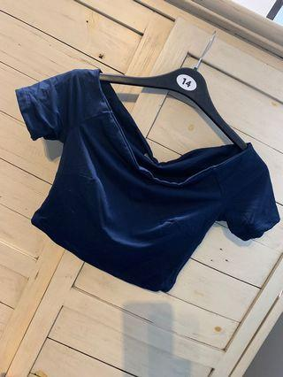 Navy kookai off shoulder top