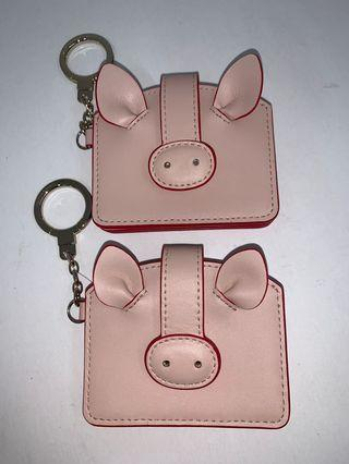 Brand New Kate Spade Pig Card Case