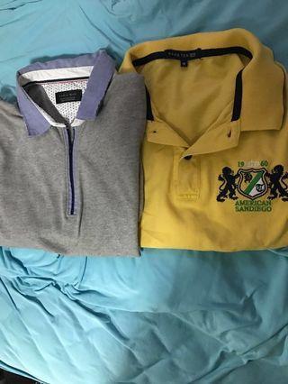 Zara/ Hang Ten men's polo (size M) @$8 each