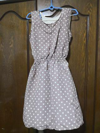 (3for$10)Polka Dot Dress heart shape