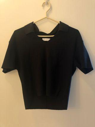 Oak + Fort Black Shirt Size S