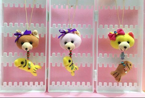 🚚 手作娃娃吊飾 — 貓+魚系列