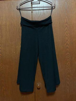 Black Wide Crop Pants