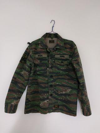 WTAPS Buds LS 02 Shirt Cotton Twill Tiger Stripe