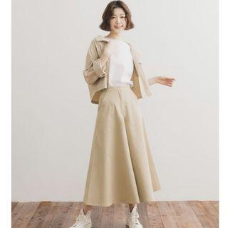 🚚 GENQUO雜誌款傘擺寬褲M