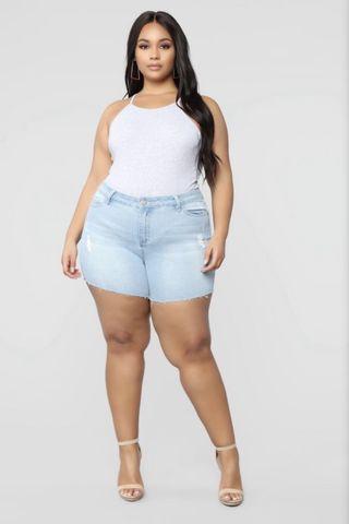 Fashion Nova - Say So II Denim Shorts