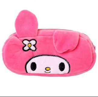 Pink Rabbit soft zip pouch case #MrtSengkang
