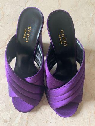 🚚 💯% Authentic BNIB Gucci Purple Heels