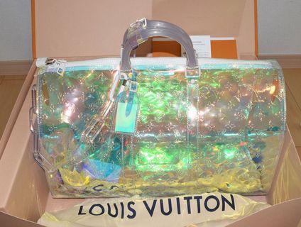 🚚 💯% Authentic BNIB Louis Vuitton SS19 Virgil Arbloh Prism Keepall BN