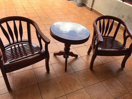Bench chair set