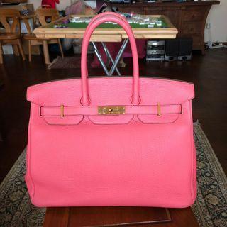 Hermes Birkin 35 Rose Lipstick GHW Togo Leather