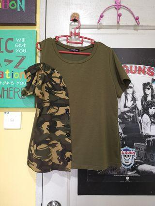 Camouflage Plus Size Top
