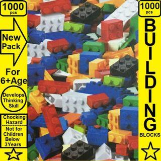 Blocks - Building Blocks - 1000 Pcs in a New Pack - Brand New - For 6+ Age