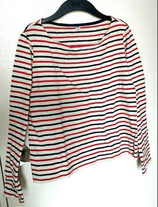 Uniqlo Stripes long sleeves EUC