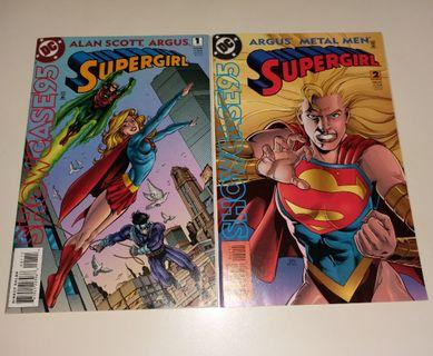 DC Comics 女超人美國漫畫書《Supergirl Jan & Feb 95 - Alan Scott Argus Metal Men》保存良好,新淨