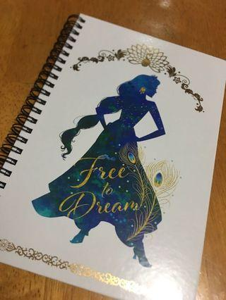 現貨 Disney Aladdin Princess Jasmine Notebook 迪士尼阿拉丁茉莉公主筆記本