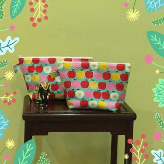 Handmade cosmetic pouches (pair)