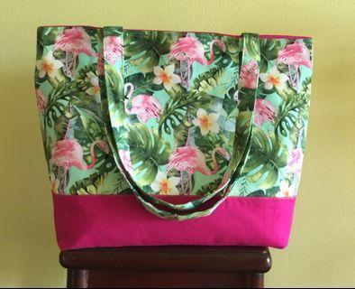 Handmade tote bag (market tote bag)