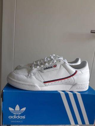 adidas originals continental 80 size 45 like new baru 1x pakai complete with box